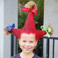 Going to do this to Jasmines hair for crazy hair day in school tomorrow.