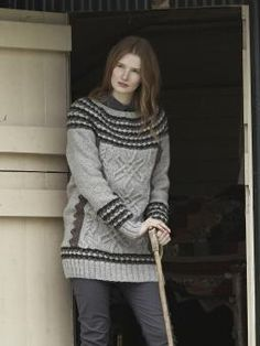 Coniston - Knit this ladies longer length sweater from Lakeland. Designed by Marie Wallin using our 100% British wool, British Sheep Breeds Undyed (woo...