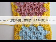 Come unire le mattonelle granny - tutorial uncinetto - YouTube Dou Dou, Crochet Necklace, Crochet Hats, Knitting, Lana, Youtube, Handmade, Fashion, Creativity