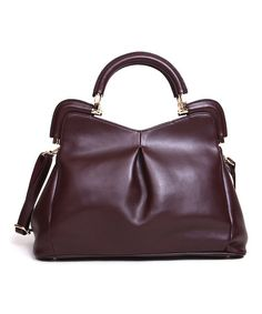 This Coffee Florrie Leather Satchel by Segolene En Cuir is perfect! #zulilyfinds
