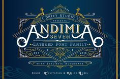 Andimia Layered Fonts Family by Drizy on @creativemarket