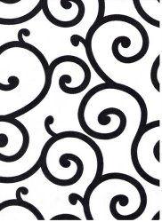 Black Flocking Swirl Rental Linen  #PartyMosaic