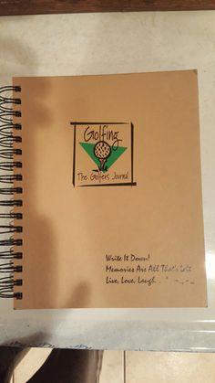 Vintage Golfer's Journal, Write it Down, Memories, Golf Book, Journal Unlimited Bay City MI 1997 Live Laugh Love Eagle Ridge Inn Resort