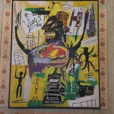 E in reception ti accoglie un Basquiat.... #èperlavoro #èunmondodifficile #senzaparole by giannigaggiani