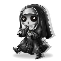 Chibi 167 48 Beautiful Marry the Possessed Nun Support Ap Carry Gothic Drawings, Creepy Drawings, Dark Drawings, Halloween Drawings, Creepy Art, Cute Drawings, Scary, Diy Halloween, Halloween Decorations