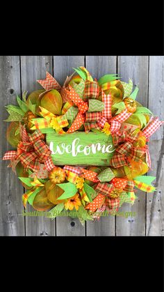 A personal favorite from my Etsy shop https://www.etsy.com/listing/542771853/fall-wreath-welcome-wreath-autumn-wreath