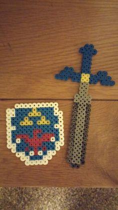 Links sword and shield - hama beads [perler] by James Morgan