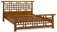 The Shimu Asian Contemporary King Size Lattice Bed is easily assembled without the need for screws. The distinctive tapered frames and beautifully crafted lattice headboard and footboard give it a strong oriental style, the extended top rails echoing . Contemporary Furniture, Decor, Lattice Headboard, Headboard And Footboard, Panel Bed Frames, Contemporary Bed, King Size Bed Frame, Contemporary Decor, Bed Frame Design