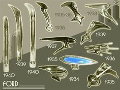 Ford Hood Ornaments 1934-40