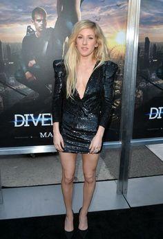 Ellie Goulding  na pré-estreia do filme Divergente na noite de terça-feira, 18, em Los Angeles. (Getty Images)