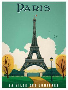 Vintage Paris Print   Idea Storm Media