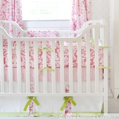 Bloom in Pink Girls Crib Bedding Collection