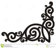 Swirl Corner Royalty Free Stock Images - Image: 6364129