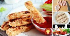 Namiesto klasický kuracích rezňov, vyskúšajte niečo nové – kuracie tyčinky obaľované v kefírovo-sezamovom cestíčku.