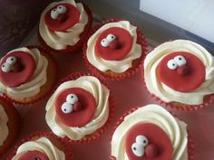 Red Nose Day cake sale cakes
