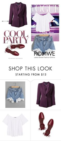 """""""Romwe"""" by amii16 ❤ liked on Polyvore featuring Claude Montana, MANGO and Tory Burch"""