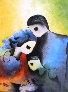 Oleo. Familia. por Willan León
