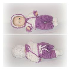 Sweet Blue Eye Girl Doll Baby CrochetPurple Pastel Bonnet Booties Outfit Crochet Baby Doll Ready To Be LOVED Adopt Me Doll ICreateAndCollect by ICreateAndCollect on Etsy