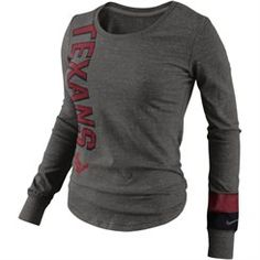 451d849f8 Nike Houston Texans Go Long Ladies Long Sleeve T-Shirt - Gray Packers Gear