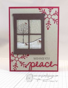 """I love this little card. This is another""""Quick and Easy"""" Card series I did in these colors. And it also had the most stamping. I loved doing the fast cards with little or no stamping, but stamping is what really brings me the peace I love when I am making cards. There is just nothing …"""