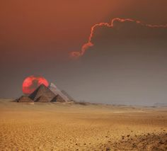 The Pyramids of Egypt at Sunset!