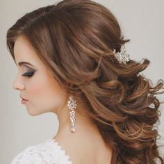 We are sharing tips from a professional about wearing your hair in a half up style for your wedding - what hair is best, what color, style tips + more!