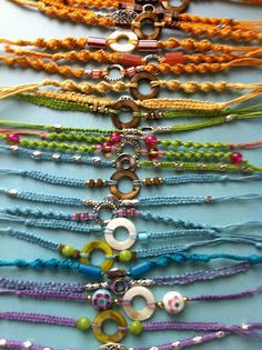 Totally making some of these macrame bracelets!