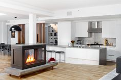 Contemporary Residential Installations - HearthCabinet Ventless Fireplaces