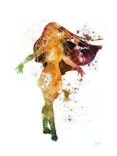 Pocahontas - Watercolor