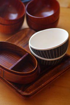 Japanese Wappa Bento Box and Bowls