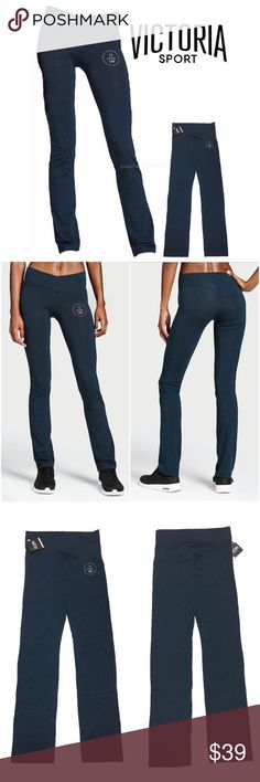 """NEW Victoria's Secret Sport M Boot Pants Yoga VICTORIA'S SECRET SPORT The Everywhere Slim Crossover Boot Pants  Condition: New with tags Color: Blue - Dark Cerulean/ Navy Product Details:   Supersoft & smooth with an asymmetrical crossover waistband, it's everything you love about the Everywhere Legging in a just-barely bootcut pant. Skinny Leg Slight flare at calf Mid weight SuperSoft and smooth with stretch Large 30"""" inseam Crossover waistband Machine wash. Tumble dry. Imported…"""