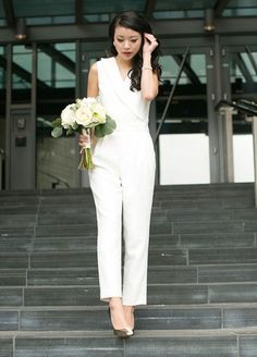 Gorgeous Bridal Jumpsuits That ll Convince You to Skip the Dress 57fd61583