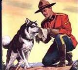 Sgt.Preston of the Yukon and his dog, Yukon King.  A 1950's adventure show on TV loved by kids.