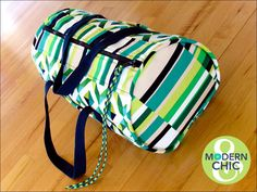 Compact Geo Pop Duffle with Rip Stop Lining | Sew4Home | Bloglovin'