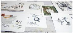 Brittany Brooks' desk at Spark Box Studio. #artistretreat #artistresidency #drawing #illustration