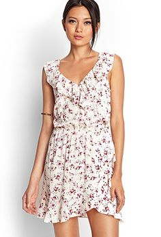 Ruffled Floral Cutout Dress | FOREVER21 - 2000070907