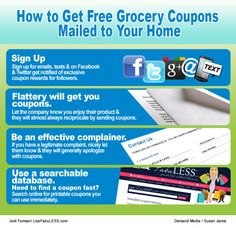 How to Get Free Grocery Coupons Mailed to Your Home | eHow.com