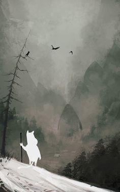God of Winter, Jakub Rozalski on ArtStation at http://www.artstation.com/artwork/god-of-winter