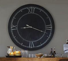Large Round Steel Clock #potterybarn