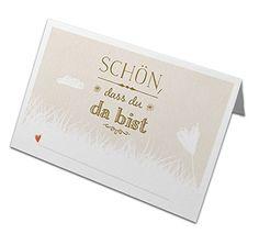 50 Stück Tischkarten NEU Schön, dass du da bist CREME, Na... https://www.amazon.de/dp/B00SLHWKA2/ref=cm_sw_r_pi_dp_xwgyxbXMJG0CC