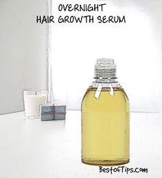 DIY OVERNIGHT HAIR GROWTH SERUM