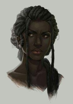 f portrait NPC baewall: My new norn necro, Sivrunn. Black Girl Art, Black Women Art, Black Art, Black Characters, Fantasy Characters, Female Characters, African American Art, African Art, Character Portraits