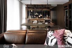 在 45 坪內斂野性藍調,展露現代自信風采-設計家 Searchome