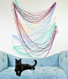 Make this photo backdrop out of straws. For real.