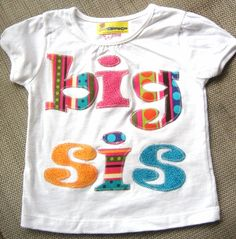 Big Sister Shirt Applique Tshirt by thesassyseamstress on Etsy