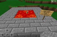 My lava pool in minecraft pe