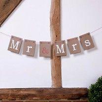 Guirlande de decoration Mr & Mrs