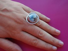Light blue ring // Anel azul claro | Flickr – Compartilhamento de fotos!