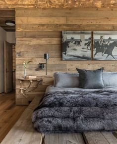 Who else wants this bedroom? The Foxtail House is designed by Pearson Design Group who is located in // Photo courtesy of Pearson Design Group - Architecture and Home Decor - Bedroom - Bathroom - Kitchen And Living Room Interior Design Decorating Ideas - Dream Bedroom, Home Decor Bedroom, Diy Bedroom, Bedroom Sets, Log Homes, Living Spaces, Living Room, Sweet Home, Interior Design