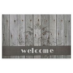 """This Achim Boardwalk Welcome Multicolor Rubber Door Mat showcases a friendly """"Welcome"""" greeting and eye-catching high-def boardwalk imagery that is ideal for adding a pleasing touch of rustic charm and style to your home's entryway. Outdoor Rubber Mats, Outdoor Mats, Rubber Door Mat, Rustic Exterior, Aging Wood, Recycled Rubber, Home Decor Shops, Welcome Mats, Rustic Charm"""